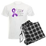 Ribbon Alzheimers Disease Men's Light Pajamas
