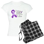 Ribbon Alzheimers Disease Women's Light Pajamas