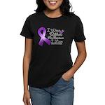 Ribbon Alzheimers Disease Women's Dark T-Shirt