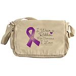 Ribbon Alzheimers Disease Messenger Bag