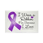 Ribbon Alzheimers Disease Rectangle Magnet (100 pa
