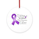 Ribbon Alzheimers Disease Ornament (Round)