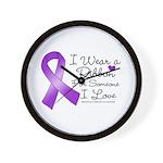 Ribbon Alzheimers Disease Wall Clock