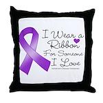 Ribbon Alzheimers Disease Throw Pillow