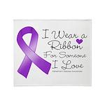 Ribbon Alzheimers Disease Throw Blanket