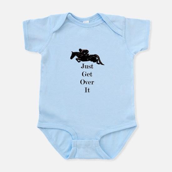 Just Get Over It Horse Jumper Infant Bodysuit