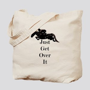 Just Get Over It Horse Jumper Tote Bag