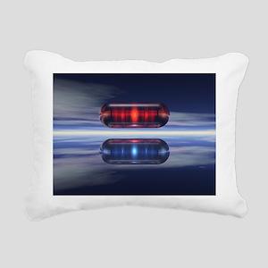 Capsules In Space Rectangular Canvas Pillow