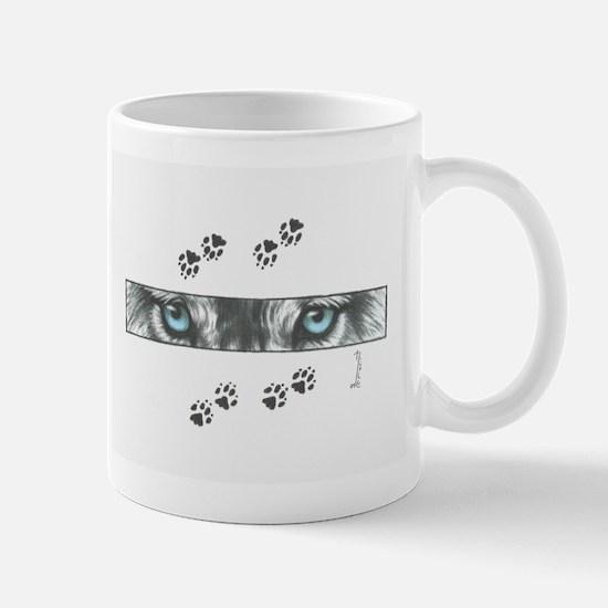 """""""Wolf Eyes & Paw Prints"""" Mug"""