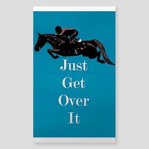 Just Get Over It Horse Jumper Sticker (Rectangle)