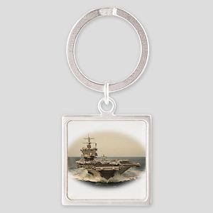 USS Enterprise Square Keychain