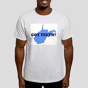WEST VIRGINIA GOT TEETH FUNNY Ash Grey T-Shirt
