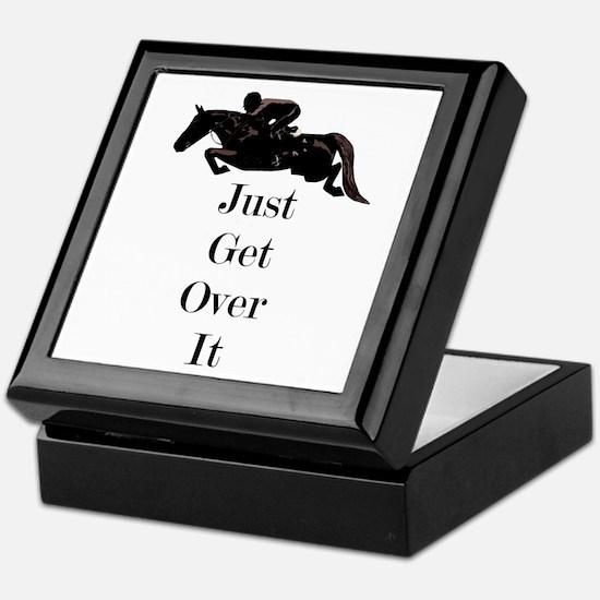 Just Get Over It Horse Jumper Keepsake Box