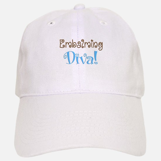embalming diva brown blue.PNG Baseball Baseball Cap