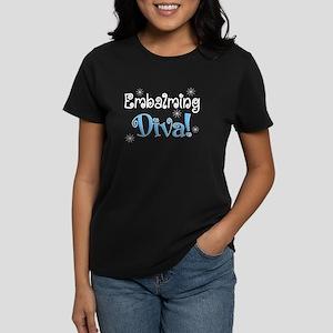 embalming diva blue Women's Dark T-Shirt