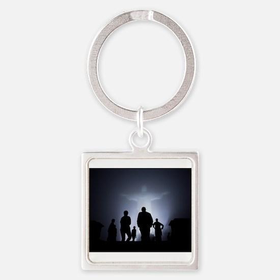 Jesus Light Square Keychain
