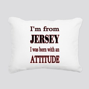 Jersey Attitude Rectangular Canvas Pillow