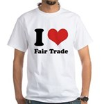 I Heart Fair Trade White T-Shirt