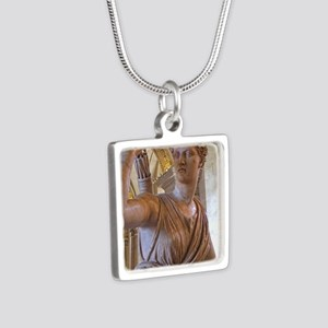 Artemis at the Louvre Silver Square Necklace
