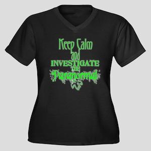 Keep Calm: Paranormal Ladies PlusSize V-neck Shirt
