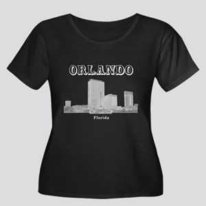 Orlando Women's Plus Size Scoop Neck Dark T-Shirt