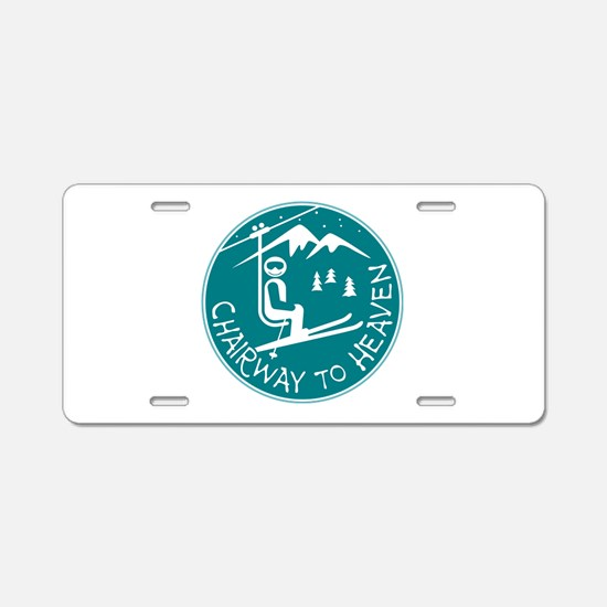Chairway to Heaven Aluminum License Plate