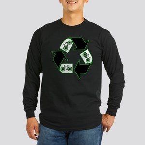 Recycle Your Cycle Long Sleeve Dark T-Shirt