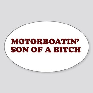 Motorboatin SOB Oval Sticker