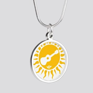 uke are my sunshine Silver Round Necklace