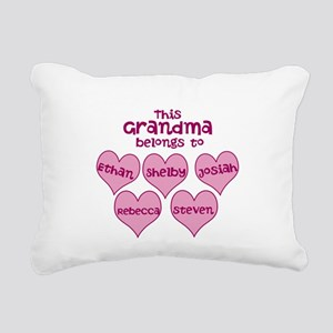 Personalized Grand kids hearts Rectangular Canvas