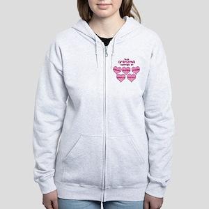 Personalized Grand kids hearts Women's Zip Hoodie