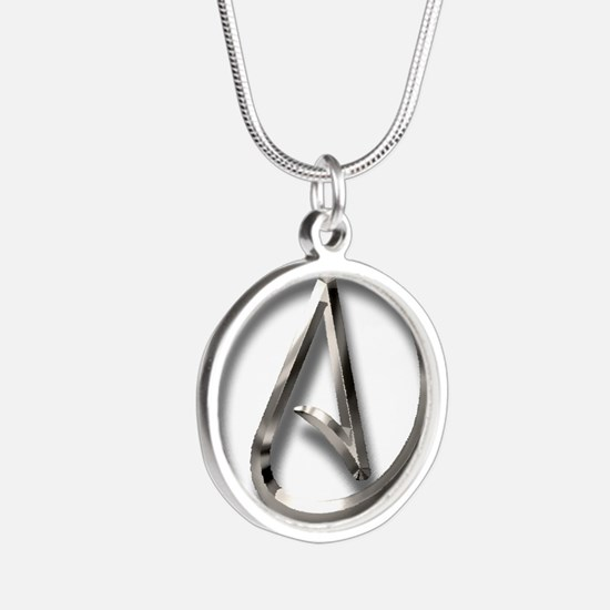 Atheist symbol jewelry atheist symbol designs on jewelry cheap international atheism symbol silver round necklace aloadofball Gallery
