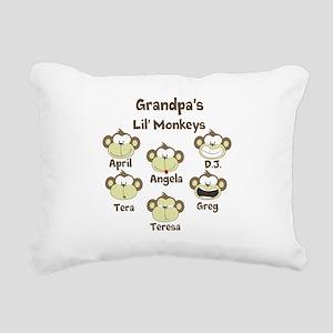 Custom kids monkeys Rectangular Canvas Pillow