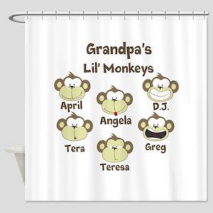 Custom kids monkeys Shower Curtain