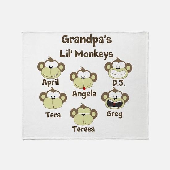 Custom kids monkeys Throw Blanket