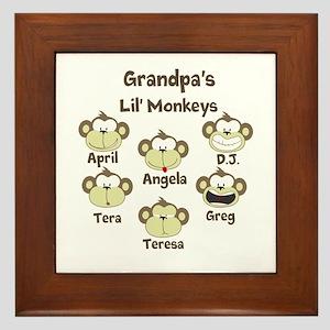 Custom kids monkeys Framed Tile