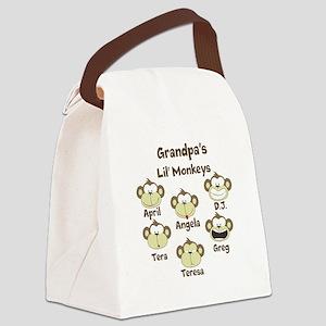 Custom kids monkeys Canvas Lunch Bag