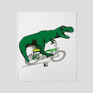 T Rex vintage Throw Blanket