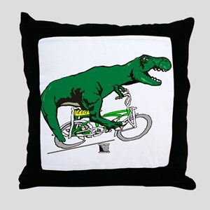 T Rex vintage Throw Pillow