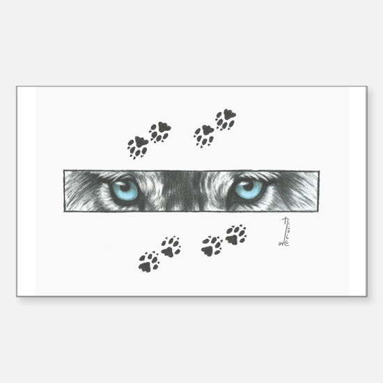 """Wolf Eyes & Paw Prints"" Decal"
