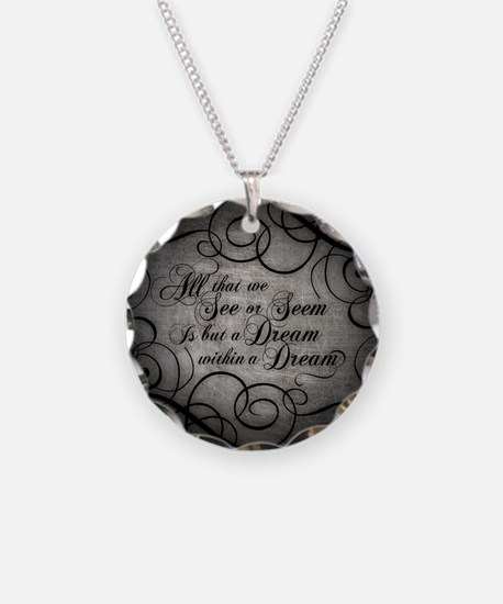 Dream Within A Dream Necklace Circle Charm