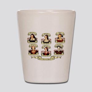 Fates Of Henry VIII Wives Shot Glass