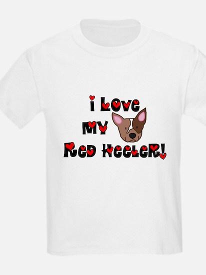 I Love My Red Heeler Kids TShirt