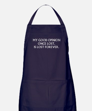 Darcy My Good Opinion Apron (dark)