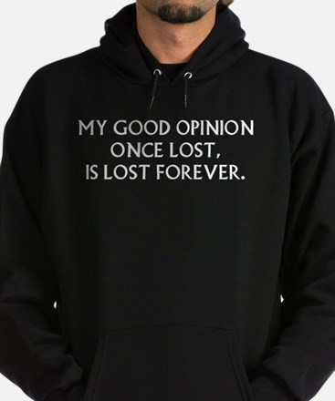 Darcy My Good Opinion Hoodie (dark)