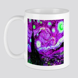 Starry Night in Sinful Cyan Mug