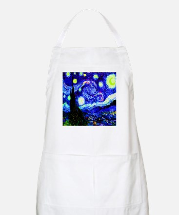 Starry Night in Midnight Blue BBQ Apron