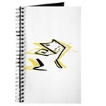 Leo - Stylized Zodiac Symbol Cat Journal
