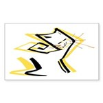 Leo - Stylized Zodiac Symbol Cat Sticker (Rectangl