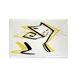 Leo - Stylized Zodiac Symbol Cat Rectangle Magnet